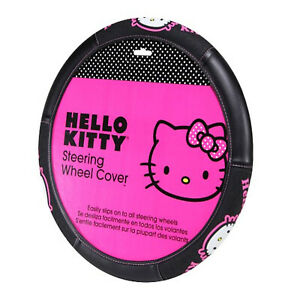 New Hello Kitty Collage Steering Wheel Cover Universal Fit 14 5 15 5 Car Suv