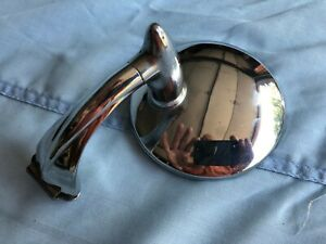 Vintage Peep Door Mirror Chrome Curved Arm Bullet Bracket Chevy Dodge Ford