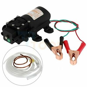 Oil Pump Dc 12v 60w Electric Motor Fuel Fluid Extractor Siphon Diesel Transfer