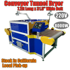 8000w 31 5 Belt Conveyor Tunnel Dryer For Screen Printing Or Direct To Garments