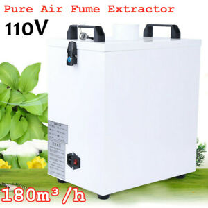 110v Pure Air Fume Extractor Smoke Purifier 180m h For Cnc Engrave Dust Remove