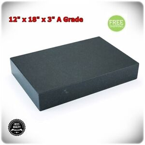 Granite Surface Plate Grade A Ledge 0 18 X 12 X 3 Sharpening Stone Stable New