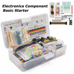 For Arduino Resistor Breadboard Cable Electronic Component Starters Tool Kit Lot