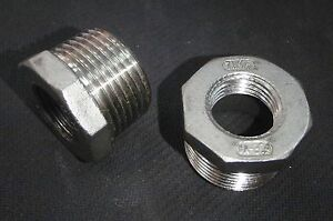 Stainless Steel Bushing Reducer 1 X 1 2 Npt Pipe Bs 100 050