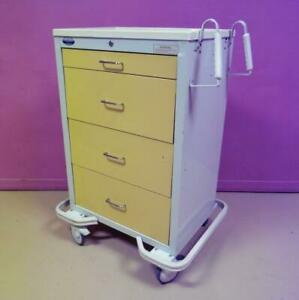 Armstrong A smart 4 Dwr Emergency Code Crash Cart Medical Surgical Cabinet Stand