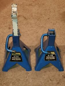 Titan 3 Ton Jack Stands Pair Blue