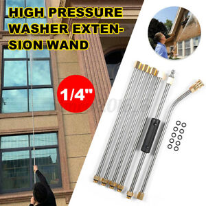 6pc 1 4 High Pressure Washer Extension Spray Lance Wand Nozzle With 10x O ring