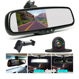 4 3 Oem Auto Dimming Rear View Mirror Universal front Side Rear View Camera Kit