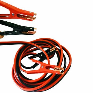 16 Ft 6 Gauge Battery Jumper Leads Heavy Dutybooster Cable Emergency Car 300 Amp