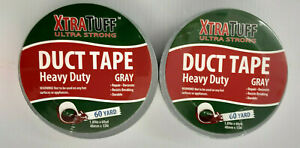 Xtra Tuff Duct Tape 2 Rolls 1 89 Wide X 60 Yards Length Each Silver