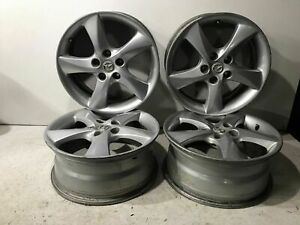 2003 2004 Mazda 6 17 Inch 5 Spoke Alloy Wheel Rim Set Of 4 Factory Oem 5x114mm