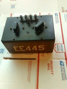 Vintag Egeneral Radio Co lab Test Equipment Electrical Ratio Arm Box Type610