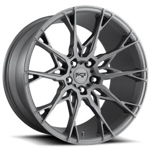 4 new 19 Niche M182 Staccato Wheels 19x8 5 19x10 5x112 35 40 Gunmetal Staggered