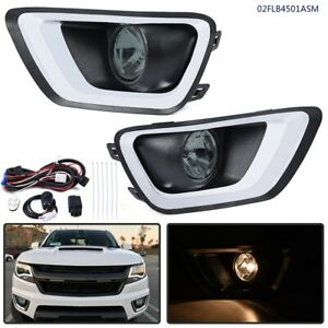 Smoked Lens For 2015 2019 Chevrolet Colorado Fog Lights Kit With W Bezel Swith