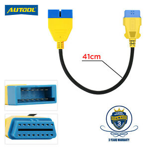 12 Pin Obd1 To 16 Pin Obd2 Convertor Adapter Cable For Gm Obd Diagnostic Scanner