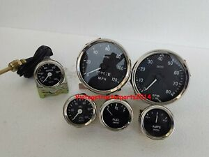Smiths Replica 52mm Kit Temp Oil Fuel Amp Gauge Speedometer tacho 100mm