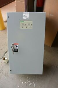 Asco Series 300 Automatic Transfer Switch A30033091c 30 Amp 480y 277v 3 Phase