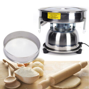Electric Stainless Steel Vibrating Sieve Machine Powder Sifter Shaker 50 80 Mesh
