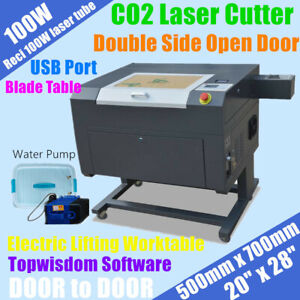 100w Co2 Laser Cutter Engraver 20 X 28 With Open Door water Pump usb lifting