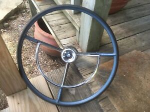 1962 1963 1964 1965 Ford Fairlane 500 Steering Wheel With Horn Button