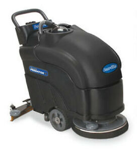 Powr flite Pas17ba bc Predator Battery Powered Automatic Scrubber With Pad Drive