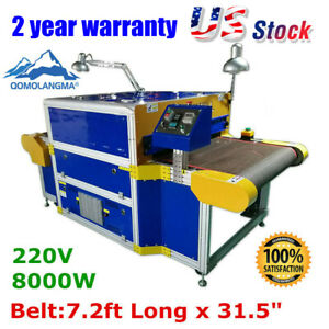 Usa Stock 7 2ft X 31 5 Belt Screen Printing Conveyor Tunnel Dryer 220v 8000w