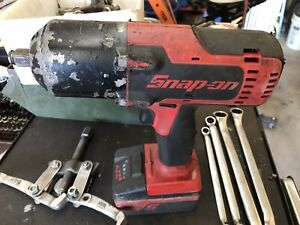 Snap On 18 Volt 1 2 Drive Monsterlithium Cordless Impact Wrench Set
