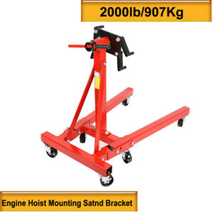 2000 Lb Engine Stand Folding Motor Hoist Dolly Mover Auto Repair Jack Foldable W