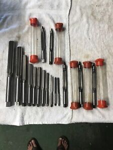 Morse Machinist Reamer Lot Of Reamers 1 To 5 16 All Marked Morse 16 Piece Lot