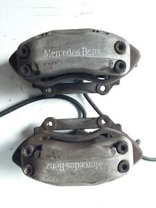 03 06 Mercedes Cl500 W215 Brembo Front Left Right Brake Calipers Pair Set Oem