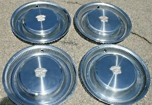 74 75 76 Cadillac Hub Caps 15 Set Of 4 Wheel Cover Hubcaps 1974 1975 1976