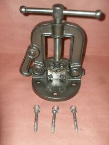Vintage bench Mount pipe Vise no 1h With Free Shipping