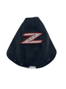 Fits 03 08 Nissan 350z Shift Boot Embroidered Z Black And Red White Logo