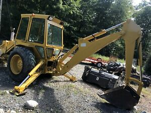 Ford 555a Backhoe With 14 Snow Box Pusher