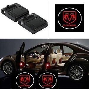 2 Pcs Wireless Led Car Door Logo Projector Courtesy Ghost Puddle Light For Dodge