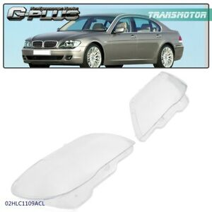 Fit For 05 08 Bmw 7 Series E66 Headlight Replacement Lens Cover Left Right Set