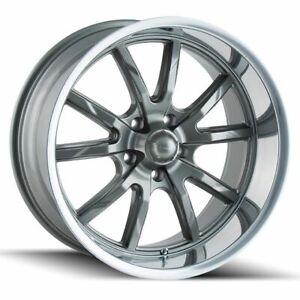 4 New 18 Ridler 650 Wheels 18x8 5x114 3 0 Gunmetal Rims