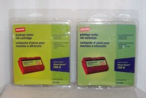 Staples E700 E707 Red Pitney Bowes Postage Meter Ink Cartridge Personal Post X2