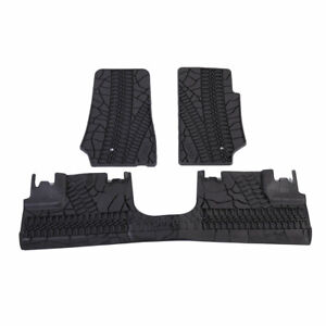Floor Mats Liners For Jeep Wrangler 4 Pcs Unlimited Heavy Duty Rubber Slush Mat