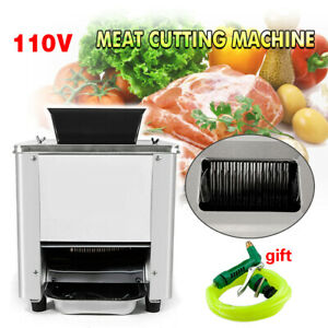 110v Stainless Commercial Electric Meat Slicer Cutting Machine Cutter 120kg hour