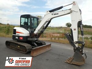 2018 Bobcat E45 Mini Excavator Cab Heat ac Thumb 470 Hrs Factory Certified