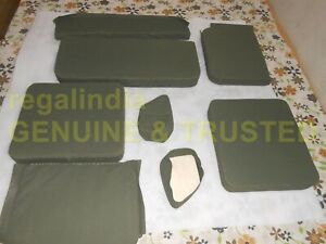 Complete Canvas Seat Cushion Set For Military Jeep Ford Willys Mb Gpw 1941 48