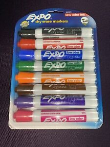 8 Expo Dry Erase Markers Brand New Sealed