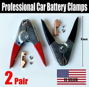 4 Pcs 1100amp Jumper Starter Booster Cable Car Battery Charger Clamp