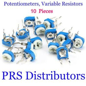 10 Pieces Potentiometers Variable Resistors100 To 1m Rm 065 Trimers Usa Seller