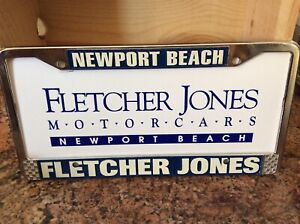 Fletcher Jones Motorcars Newport Beach Metal License Plate Frame Insert
