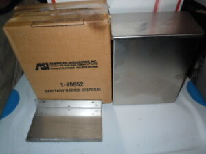 New Asi Surface Mount Sanitary Napkin Disposal 1 0852 Stainless Steel w Cover