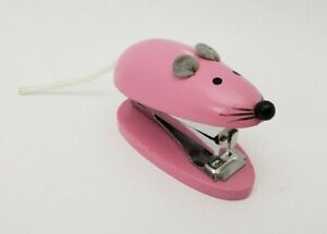 Pink Wooden Mouse Mini Stapler 2 5 Long Staples Not Included