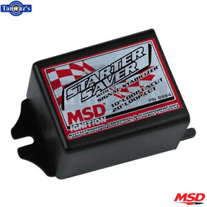 Msd Starter Saver Ignition Retard Box With Signal Stabilizer Black