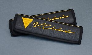 Car Accessories Seat Belt Covers Fits Ferrari Any Embroidery Any Colors